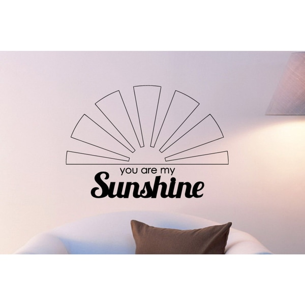 The sun You Are My Sunshine Wall Art Sticker Decal