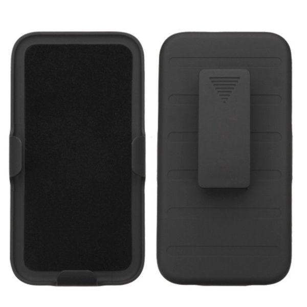 Insten Black Hard Snap-on Rubberized Matte Holster Belt Clip with For HTC Desire 510
