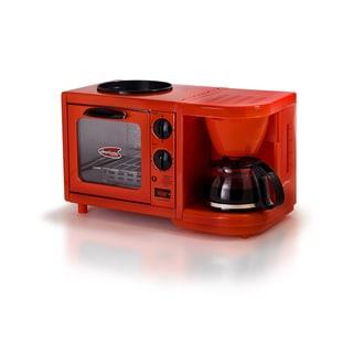 Elite Cuisine EBK-200R 3-in-1 Multifunction Breakfast Center, Red