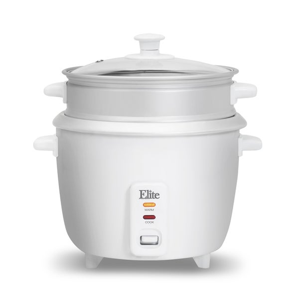 Elite Gourmet ERC-003ST 6-cup Rice Cooker with Steam Tray