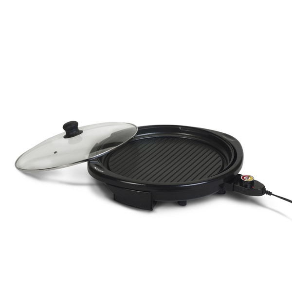 Elite Gourmet EMG-980B 14-inch Electric Indoor Grill, Black