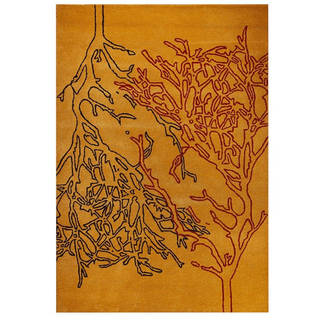 M.A.Trading Hand-tufted Vines Orange Rug (5'2 x7'6 )