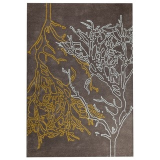 M.A.Trading Hand-tufted Vines Grey Rug (5'2 x7'6 )