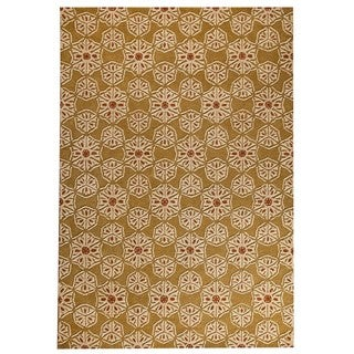 Hand-tufted Normandie Gold Rug (5'2 x7'6 )