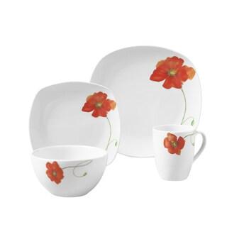 Palermo 16pc Soft Square Porcelain Dinnerware Set