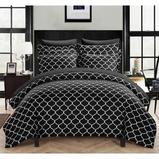 Chic Home Finlay Black 3-piece Duvet Cover Set