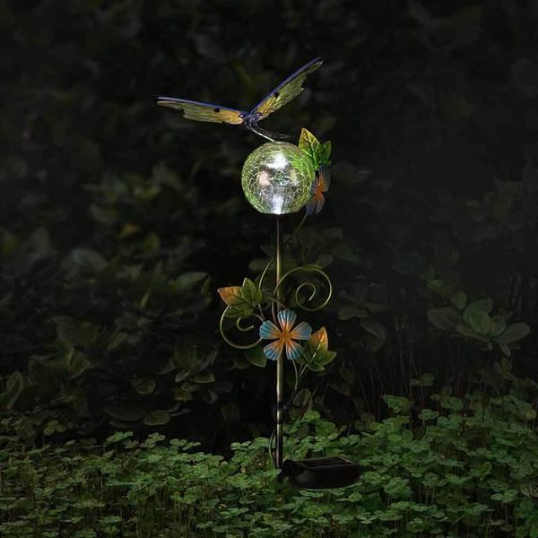 Sunjoy Dragonfly LED Solar Garden Stake