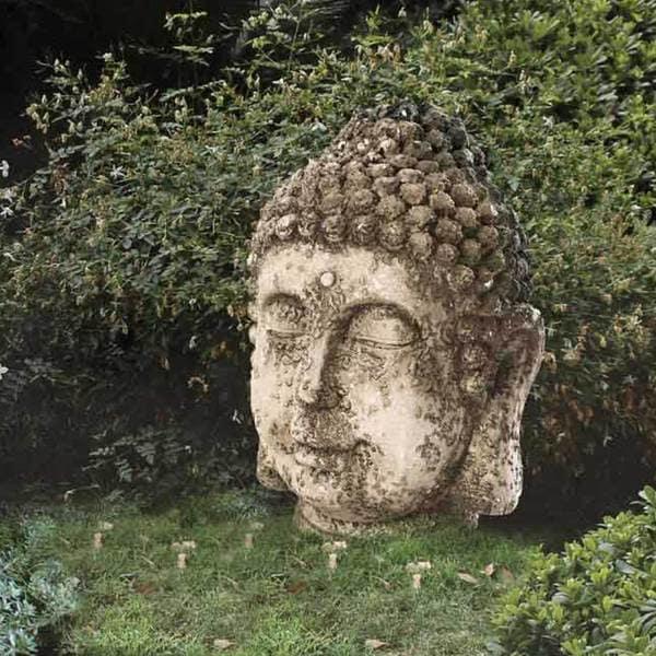 Sunjoy Rustic Garden Buda Statue, 17-inch, Resin 17968058