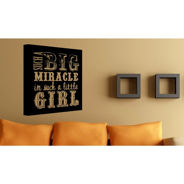 Book Big Miracle in a Little Girl Wall Art Sticker Decal