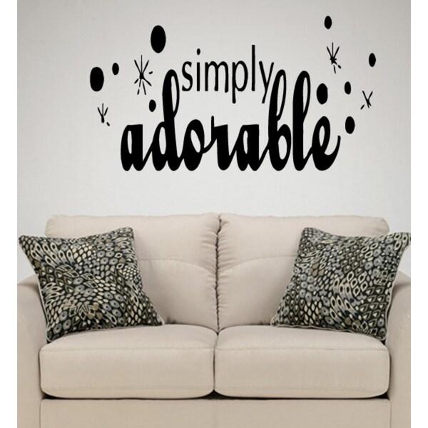 Phrase Simply Adorable Wall Art Sticker Decal