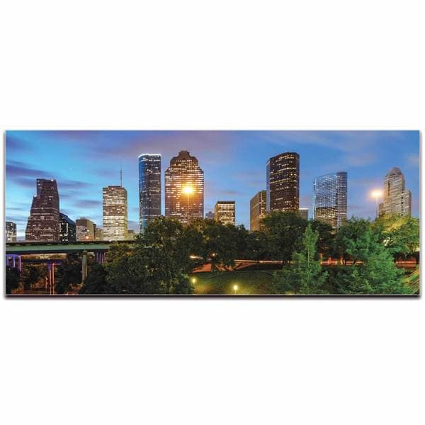 Modern Crowd 'Houston City Skyline' Urban Cityscape Enhanced Photo Print on Metal or Acrylic 17977571