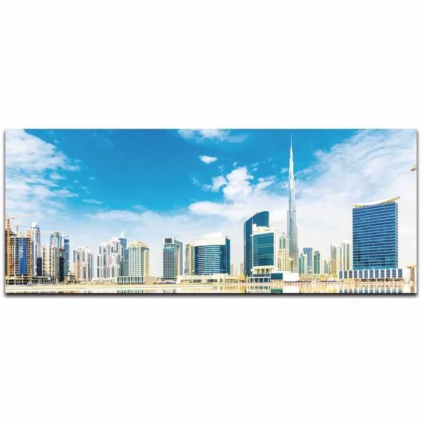 Modern Crowd 'Dubai City Skyline' Urban Cityscape Enhanced Photo Print on Metal or Acrylic 17977573