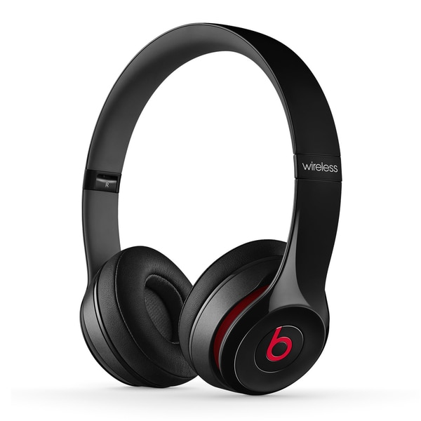Beats By Dre Black Solo 2 Wireless Headphones (Refurbished)
