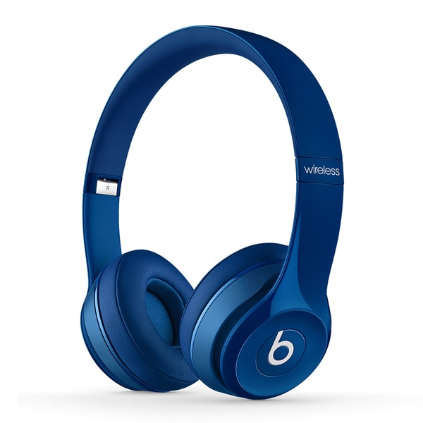 Beats By Dre Blue Solo 2 Wireless Headphones (Refurbished)
