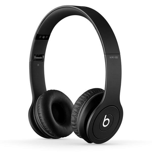 Beats By Dre Matte Black Solo Wired Headphones (Refurbished)