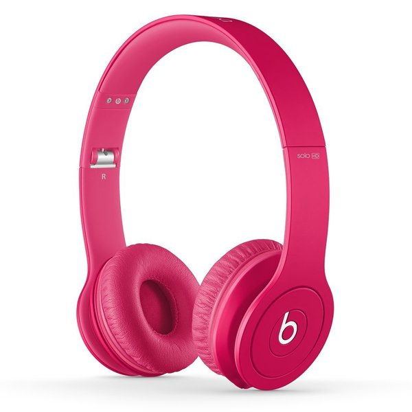 Beats By Dre Matte Pink Solo Wired Headphones (Refurbished)