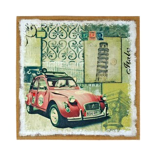 Studio Arts Postcards from the Edge Yellow Auto Print