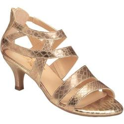 Women's Aerosoles Masquerade Strappy Sandal Gold Snake Faux Leather