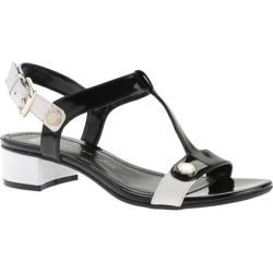 Women's Anne Klein Ebber Sandal Black/White Synthetic
