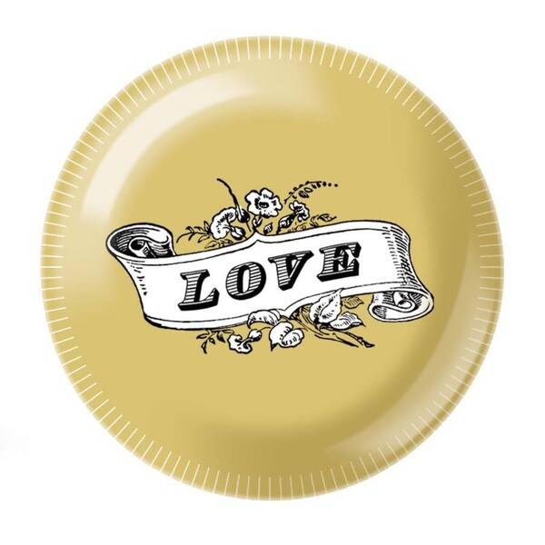 Fringe Studio Gold Love Henry Tin Candle