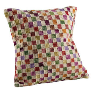 M.A.Trading Hand-woven Small Box White/Multi Pillow (18-inch x 18-inch)