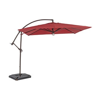 Sorara USA 10-foot Cantilever Square Umbrella with Light