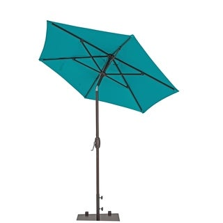 Sorara USA 7-foot Aluminum Garden Parasol with Push Button Tilt and Crank