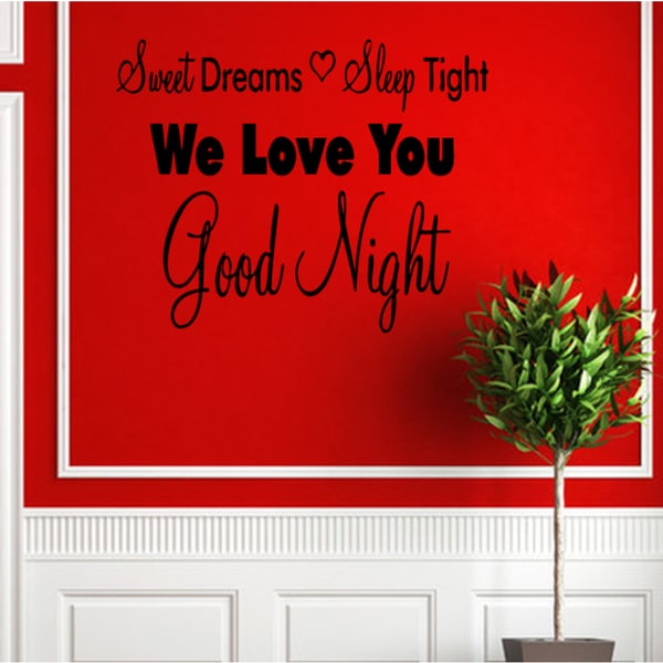 The words Sweet Dreams Sleep Tight Wall Art Sticker Decal