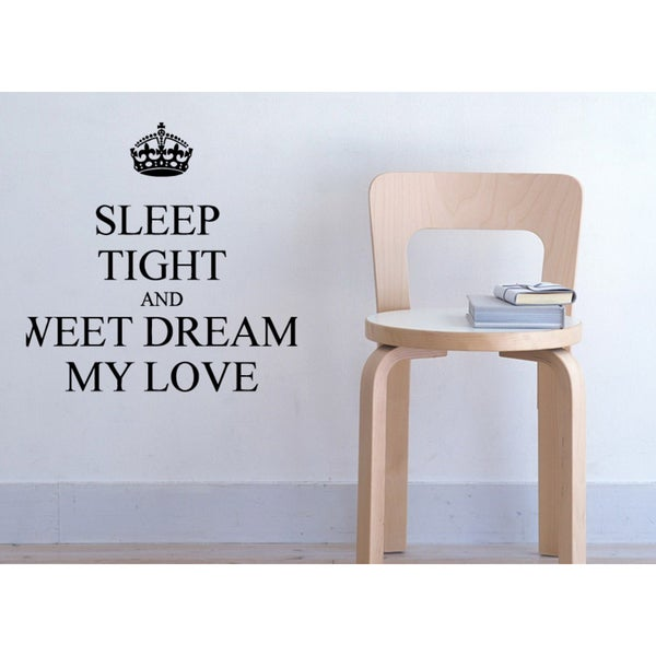Crown Sweet Dreams Sleep Tight Wall Art Sticker Decal