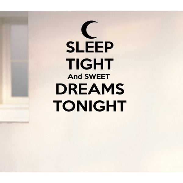 Moon Sweet Dreams Sleep Tight Wall Art Sticker Decal