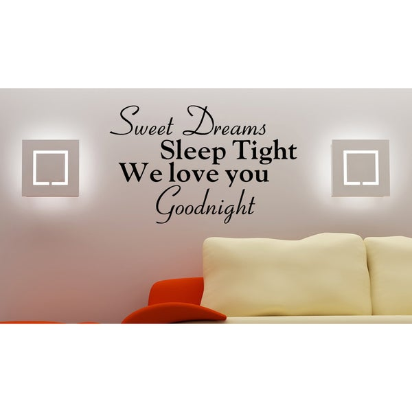 Expression Sweet Dreams Sleep Tight Wall Art Sticker Decal