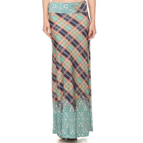 MOA Collection Border Print Maxi Skirt