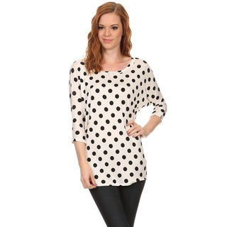 MOA Collection Women's Polka Dot Top