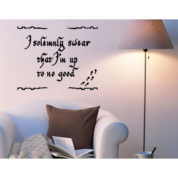 Just words I Solemnly Swear I Am Up To No Good Wall Art Sticker Decal