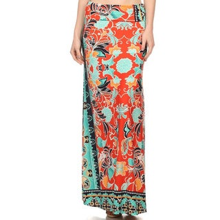 MOA Collection Floral Pattern Maxi Skirt
