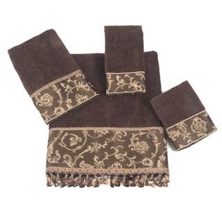 Damask Fringe 4-Piece Towel Set