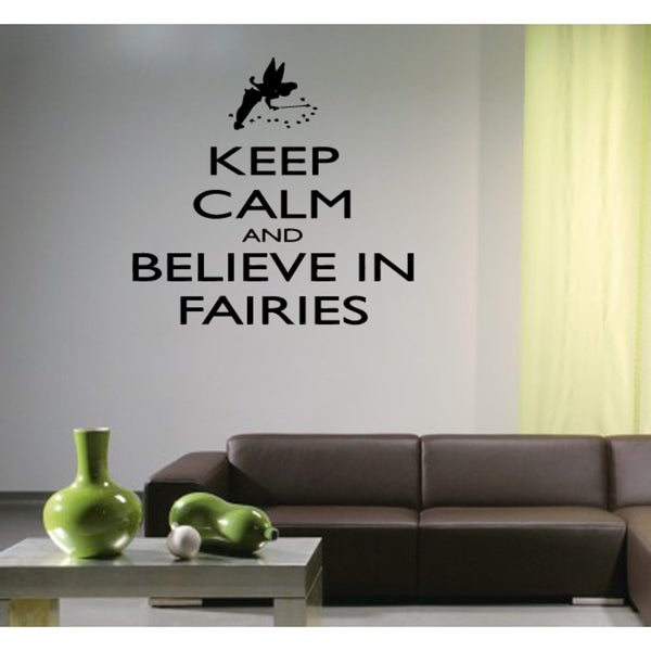 Magic fairy I Believe in Fairies Wall Art Sticker Decal