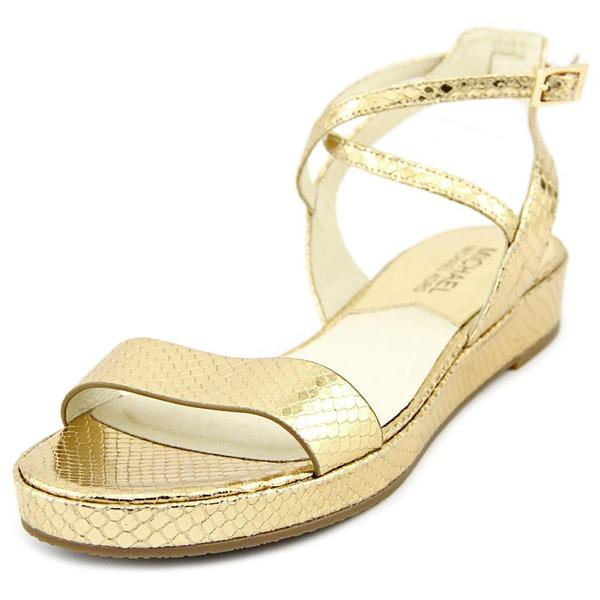 Michael Michael Kors Women's 'Kaylee Flat' Leather Sandals