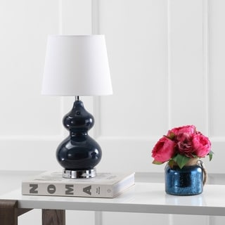 Safavieh Kids Lighting 18.75-inch Eva Navy Double Mini Table Lamp