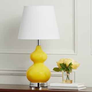 Safavieh Kids Lighting 18.75-inch Eva Yellow Double Mini Table Lamp