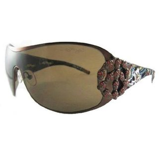 Ed Hardy EHS-038 New York City Latte/Brown Sunglasses
