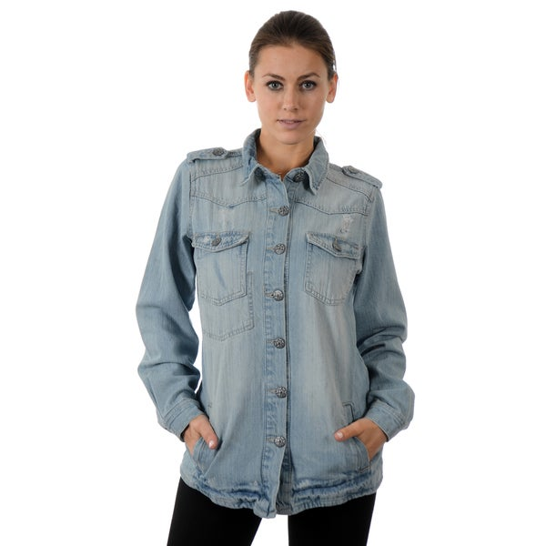 Vanilla Star Women's Fashion Casual Vintage Outerwear Denim Jacket