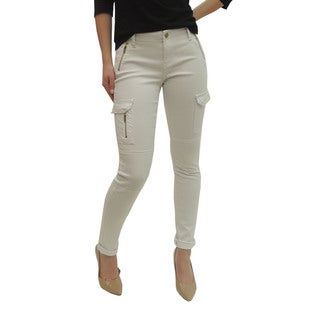 Women's Skinny Cargo Zipper Pants