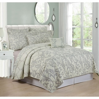 Serenta Marisol Printed Microfiber 7-piece Bedspread Quilt Coverlet Set