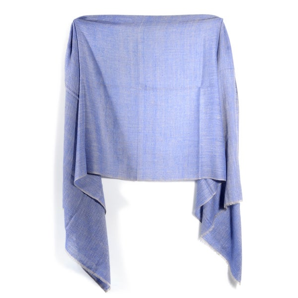 Davidoff Denim Blue Pashmina Double Weave Scarf