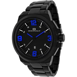 Oceanaut Men's OC7311 Armada Round Black Stainless Steel Bracelet Watch