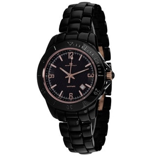 Oceanaut Women's 3BH1D3618 Ceramic Round Black Ceramic Bracelet Watch