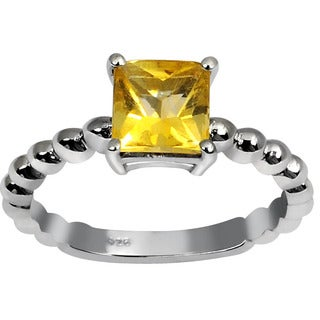 Orchid Jewelry's Sterling Silver 1 1/10ct Genuine Citrine Ring