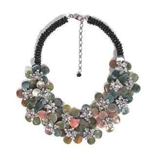 Magnificent Earthy Jasper Floral Statement Necklace (Thailand)