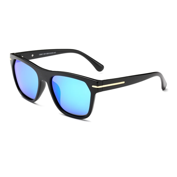Dasein Polarized Square Mirrored Sunglasses